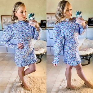 Nasty Gal Once and Floral Puff Sleeve Mini Dress